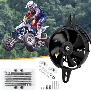 Radiador de óleo elétrica radiador ventilador de resfriamento do motor Radiador Fit para 150cc 200cc 250cc chinês ATV Quad Go Kart Buggy Motorcycle