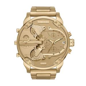 Moda gündelik lüks erkek izle kuvars DZ7399 paslanmaz çelik altın saat çok zaman dilimli takvim Spor erkek erkek dizeller saatler reloj