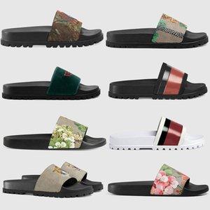 Горячие моды летом дизайнер резиновые сандалии цветочные мужские тапочки Снасти донный тапочки дамы полосатый пляж случайных сандалии US5-11