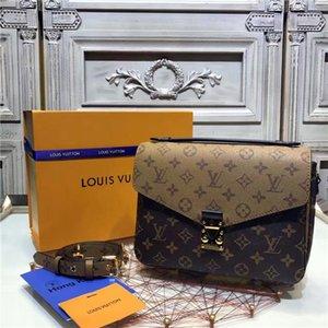 Messenger Bag de couro bolsa de Pochette Metis Totes Bolsas Bolsa de ombro Sacos Bandoleira 77LVLOUISVUITTON