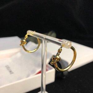 semplice in ottone stile materiale di figura rotonda e ciondolo nodo orecchino di goccia e l'anello per le donne monili di nozze regalo PS6679A