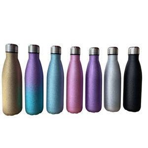 17oz Блеск бутылка из нержавеющей стали Изолированной Чашку Открытой Портативных вакуумных бутылки воды подарок способ A03
