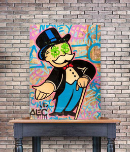 Alec Monopoly Hand Out $ Eyes Home Decor Handpainted &HD Print Oil Painting On Canvas Wall Art Canvas Pictures 200520