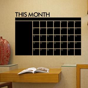 Questo mese Adesivi murali lavagna Adesivi murali mensili Calendario Lavagna Adesivi murali Educazione infantile 60 * 92cm Kid Room Decor