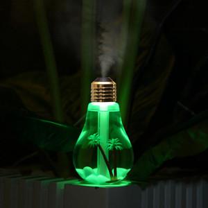 400ML USB Ultraschall-Luftbefeuchter bunten Nachtlicht Ätherisches Öl Aroma Diffuser-Lampen-Birnen-Form mit dem Inneren Landschaft RRA2825-3