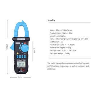 Freeshipping Auto Range Manual Range 600A 3999 counts AC Current Digital Clamp Meter