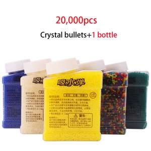 1 Botella 20000 Piezas de colorido suave de cristal bala pistola de agua de juguete de paintball disparo de barro crecer granos de la bola de la Tierra accesorios del arma Boy Toy