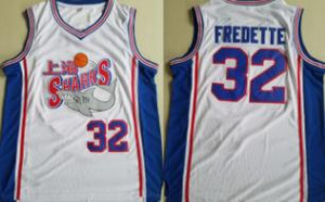 Jimmer Fredette Shanghai Sharks Jerseys Mens University College Película Baloncesto Fredette Jersey Costura blanca S-2XL