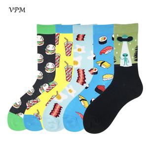 Calzini da uomo VDC 85% cotone Harajuku Colorato Funny Skate Calzino fresco da uomo Compression Happy Women's Lover Socks Pairs / lot