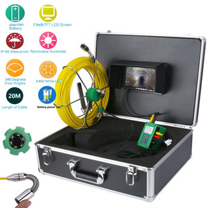 30M IP68 Waterproof Drain Pipe Sewer Inspection Video Camera System 7inch LCD 1000TVL Camera Monitor with 6W LED Night Vision Free Shipping