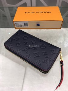 louis vuitton Lv LuxusDesigner S328 hochwertige ursprüngliche Leder Designermappe Art und Weise Leder lange Geldbeutel Geldbeutel Reißverschlussbeutel Münzfach note de