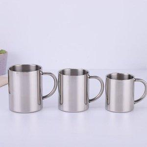 220 ملليلتر 300 ملليلتر 400 ملليلتر المقاوم للصدأ كأس القدح المحمولة مع مقبض مزدوج الجدار السفر أكواب القهوة القدح كأس الشاي المياه البيرة