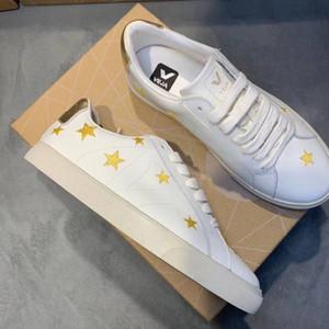 Женские VEJA эспадрильи Esplar Extra кроссовки дышащая кожа V вышивка звездная обувь Schuhe женские спортивные кроссовки для бега Chaussures