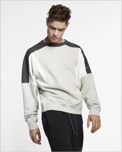 Toptan-erkek kapüşonlu marka ilkbahar sonbahar uzun yuvarlak boyun basit gündelik moda tasarımı lüks erkek şapka markası erkekler kapüşonlu olmadan hoody kollu