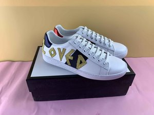 Hot Brand Casual Shoes hococal white Ace green blue red stripe bee tiger snake loved sneaker for men women big size 34-46