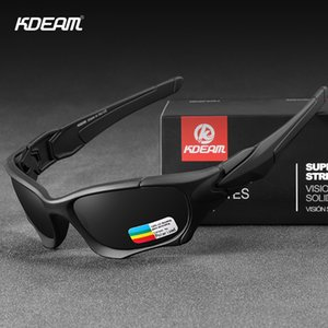 KDEAM Army occhiali sportivi Occhiali da sole polarizzati Uomini curva di taglio Telaio indeformabile Lens Shield Occhiali da sole oculos de sol CX200706