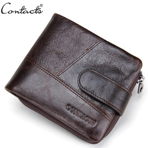 New Men's Genuine Leather Wallet Zipper Hasp Cross section Men Wallets Fashion Purses With Card Holder Coin Purse Carteira