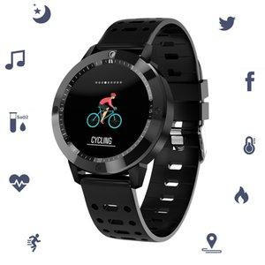 Oxygen Pressão Arterial Pulseira inteligente CF58 relógio inteligente Waterproof vidro temperado Atividade de Fitness Rastreador Sports Heart Rate Monitor