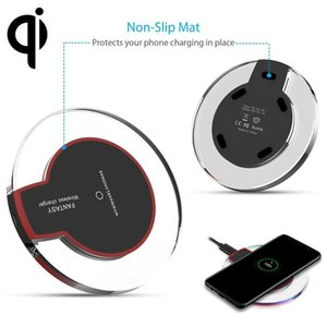 Phone Ultra-Thin Universal QI Wireless fast Charger New Ultra-Thin Crystal clear charge K9 5W Charger pad base Wireless For Mobile Phones