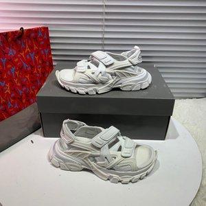 Mode hommes de concepteur de luxe chaussures piste Sandal Triple femmes sangles Velcro sandales chaussures hommes designer hommes en plein air sandales occasionnels