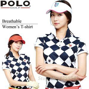 2016 New Polo Women's Golf T-shirt Summer Clothing Ladies Short Sleeve Korean POLO Shirt Breathable Leisure Sports