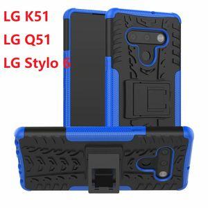 Armadura Para LG V60 thinq K51 K71 Q51 Hard Case Gel macio híbrido Proteção LG Velvet Q92 Stylo 6 5 abrange Silicon