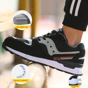 Zapatos con punta de acero indestructible trabajo de seguridad anti Smashing resistente a los pinchazos de peso ligero de estilo deportivo transpirable verano