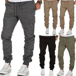 Pantalones casuales para hombre Joggers pantalón de algodón elástico pantalones largos Ejército Homme de Carga Legging ropa componente macho