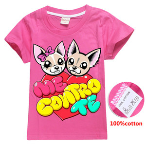 ME CONTRO TE Cute Dogs Printed kids T-shirts 4 Colors 6-14t girls 100% cotton t shirt kids  clothes girls DHL SS300