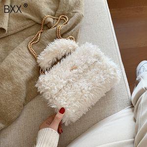 [BXX] felpa del invierno Crossbody empaqueta para las mujeres 2019 de la cadena linda de la manera bolso Messenger Señora Teléfono bolsos y monederos A299
