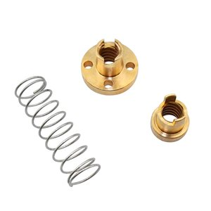 3D Printing 3D Printer Parts & Accessories T8 Anti Backlash Spring Loaded Nut Elimination Gap Nut for 8mm Acme Threaded Rod Lead