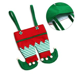 Christmas Decorations Red Pants Candy Bag Elf Gift Bag Merry Christmas Cookies Snack