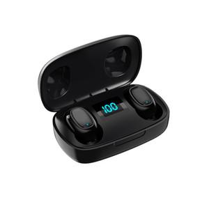 Auricular estéreo inalámbrico digital LED Bluetooth Auriculares T10S Wireless Headset auriculares de sonido envolvente para auriculares de teléfonos móviles