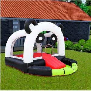 Havuz Trambolin Çocuk Açık Ucuz Bounce House Family Kullanım fedai Top Havuzu Küçük Basit Moonwalk 'başlıklı işle Ticari Panda Bouncer