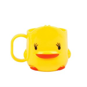 Creative little yellow duck childrens mouthwash cup kindergarten baby drop proof drinking cup advertising gift plastic drinking