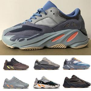 Nuevos 700 verde azulado carbono utilidad Blue Wave Kanye West inercia Reclective mujeres de los hombres Calzado deportivo sólido gris Imán zapatillas de deporte corrientes estáticas negro