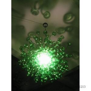 Yatak odası Kristal Avize Kalın Renk Yeşil Murano Cam Avizeler Tavan Table Top için Dekor Lambalar LED Cam Avize Kolye Işıklar