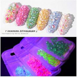 2020 Luminous Diamonds Fluorescent Diamonds Super Flash Nail Supplies Flat Diamond Jewelry nail arts