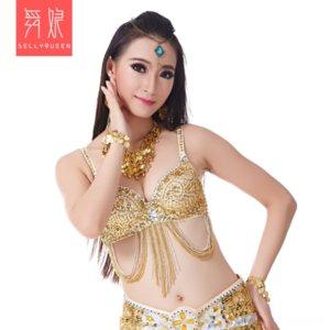 B15 Thème Costume sous-vêtements dos haut costume danse ventre soutien-gorge ventre Vêtements Ethnic danseur broderie danse manuel perles soutien-gorge