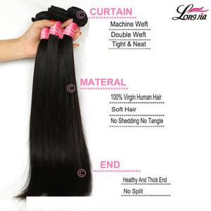 8А перуанский прямые волосы с 4x4 Закрытие Wholseale перуанский Virgin Straight Человеческие Пучки волос с кружевом Закрытие норка перуанский Huamn волос