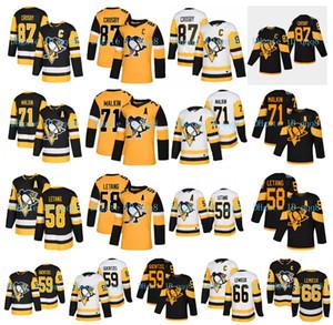 Pittsburgh Penguins Sidney Crosby Jersey 87 Jersey 58 Kris Letang 59 Jake Guentzel 66 Mario Lemieux 71 Evgeni Malkin Stadio Serie Hockey