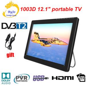 LEADSTAR 12 pouces DVB-T T2 AC3 analogique ATSC Portable TV HDMI TV TF programmes USB cadeau chargeur de voiture mini-playerrul LED TV