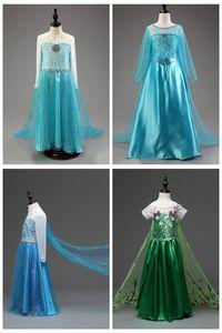4 tasarımlar kar kraliçe 2 II bebek kız uzun pelerin çocuk Kostüm Noel Cadılar Bayramı Partisi ile elbise kar tanesi tutu etek Cosplay giyinmek