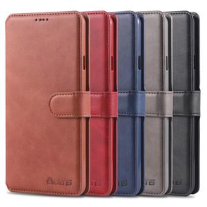 Bolsa em couro de luxo capa para Samsung Galaxy S10 S9 S8 5G mais A10 A20 A30 A40 A50 A60 M20 M30 Magnet Carteira tampa do slot de cartão