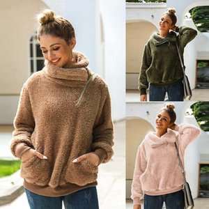 Fashion Women Sweatshirt Cardigan Autumn New Thicked Warm Hoodies Sweatshirts Have pockets Winter Female Clothe S-L