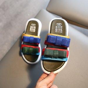 Bowknot Terlik Çocuk Terlik Çocuk Bebek Bebek Kız Günlük Ayakkabılar Chausson Enfant Katı Bebek Terlik Kapcie Dla Dzieci
