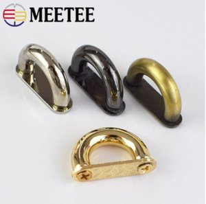 Meetee 10pcs 13mm Metal D Ring Buckle Connection Alloy Metal Shoes Bags Buckles DIY Hardware Accessories Sewing Handmade AP523