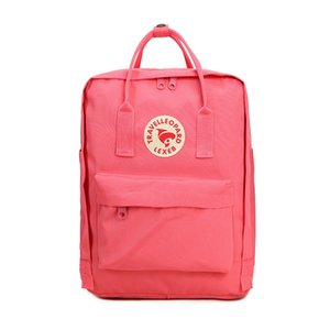 High Quality Fjallraven Kanken Canvas Waterproof Double Backpacks Student Out Casual Pale Pink Backpacks #QA178