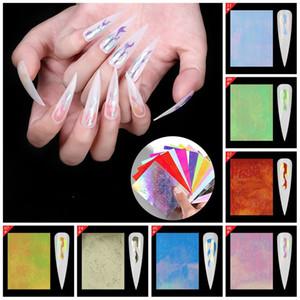 Creative Nail Flame Стикер Цвет Фантазии Клей Пастер Fit Маникюр Женщины Девушки Золочение Ногтей Наклейки 16 Шт. 9pp E1