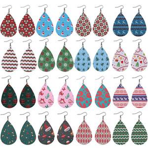 16 colori di pelle Dichiarazione del fiocco di neve stampata cervi orecchini vintage Etnica figura del waterdrop gioielli delle donne delle ragazze ciondola gli orecchini di Natale
